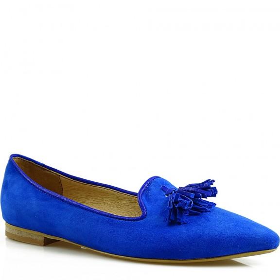 Baleriny damskie, niebieskie, 1779